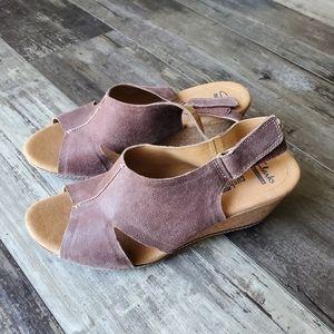 Clarks platform shoes